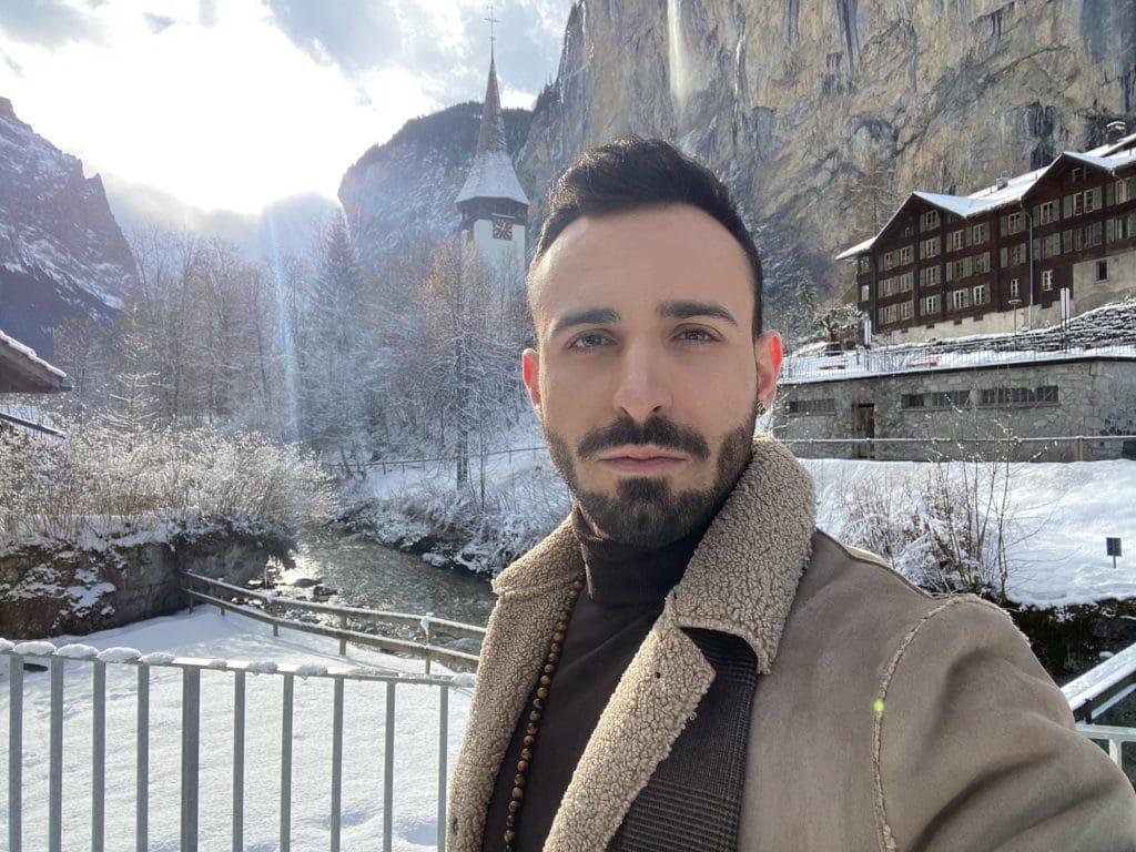 Winter Male Outfit Beige Coat 6